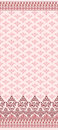 Pink seamless pattern with wide border maroon Stock Photos