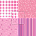 Pink seamless patterns Stock Photography