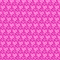 Pink seamless vector pattern with hearts and beads Royalty Free Stock Photo