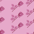 Pink seamless vector rose pattern. Royalty Free Stock Photo