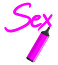 Pink sex creative design of Stock Image