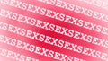 Pink sex word background Royalty Free Stock Photography