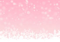 Pink shines with snow crystals background Royalty Free Stock Photo