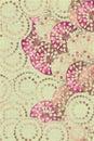Pink shocker jewel circles Royalty Free Stock Photos