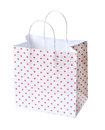 Pink shopping bag isolated on a white background (clipping path) Royalty Free Stock Photo