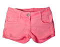 Pink shorts womens isolated on white background Stock Images