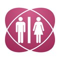 Pink sign toilet