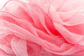 Pink silk scarf isolated on the white background Stock Images