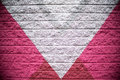 Pink and Silver Gray Brick Wall Background Royalty Free Stock Photo