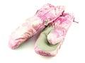 Pink ski mittens Royalty Free Stock Photo
