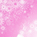 Pink snowflake background Royalty Free Stock Images