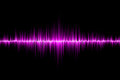 Pink sound wave background Royalty Free Stock Photo