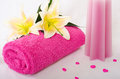 Pink spa theme Stock Photography