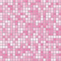 Pink square tiles seamless vector texture