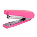 Pink stapler isolated on white Royalty Free Stock Photography