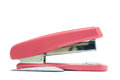 A pink stapler in white background isolated Royalty Free Stock Photography
