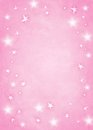 Pink star background textured with room for copy space Stock Photography