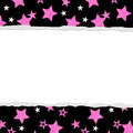 Pink Star background for your message or invitation Stock Image