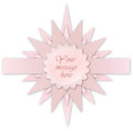 Pink star label. Greeting card for kid bithday or party Royalty Free Stock Images