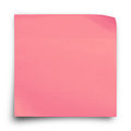 Pink sticker paper note Royalty Free Stock Photo