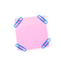 Pink Sticky Paper Note With Bl...