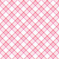 Pink Stripe Plaid Stock Image