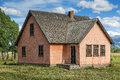 Pink Stucco House Royalty Free Stock Photo