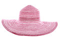 Pink summer hat cut out Stock Photo