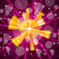 Pink sun background shows shining rays and bubbles showing Royalty Free Stock Photo