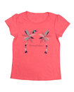 Pink T-shirt with a pattern. Isolate Royalty Free Stock Photo