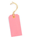 Pink tag cardboard on a white background Royalty Free Stock Images