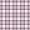 Pink tartan seamless vector patterns. Checkered plaid texture. Geometrical square background for fabric Royalty Free Stock Photo