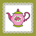 Pink teapot Royalty Free Stock Images