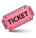 Pink ticket Stock Photos