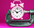 Pink Time Pressure Stock Photos