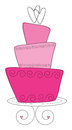 Pink topsy turvy cake illustration Stock Image