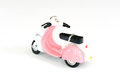 Pink toy motorcycle Royalty Free Stock Photo