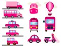 stock image of  Pink transport for girls girly transport