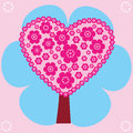 Pink tree illustration of a abstract Royalty Free Stock Photo