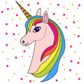 Pink unicorn head 2