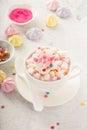 Unicorn hot chocolate Royalty Free Stock Photo