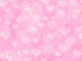 Pink valentine background with boke and hearts