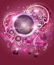 Pink valentine music background