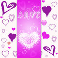 Pink valentine s day cards greeting card declaration of love Royalty Free Stock Images