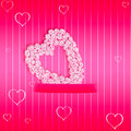 Pink valentine s day cards greeting card declaration of love Stock Photo