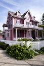 Pink Victorian house Royalty Free Stock Photo