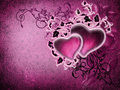 Pink vintage hearts Royalty Free Stock Images