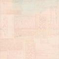 Pink vintage postcard text ephemera background Royalty Free Stock Photo