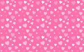 Pink wallpaper with white hearts love and valentines day design concept Stock Photo