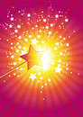 Pink wand stars Royalty Free Stock Image